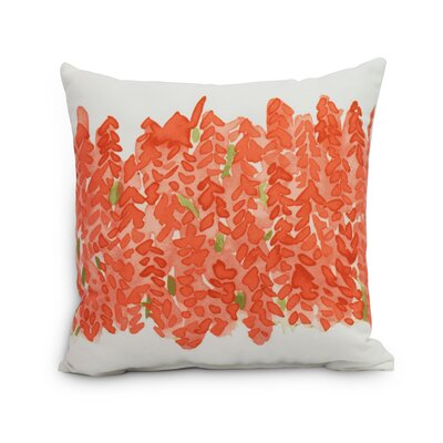 Quarterman Throw Pillow Color: Orange, Size: Large, Location: Outdoor