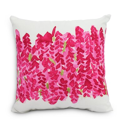 Quarterman Throw Pillow Color: Pink, Size: Large, Location: Outdoor