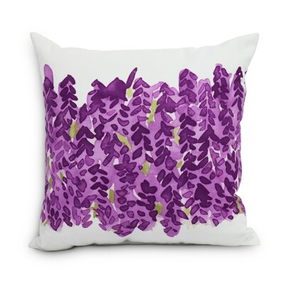 Quarterman Throw Pillow Color: Purple, Size: Large, Location: Outdoor