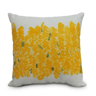 Quarterman Throw Pillow Color: Yellow, Size: Small, Location: Outdoor