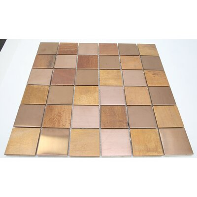 SAMPLE - Antique Random Sized Metal Mosaic Tile in Copper/Bronze