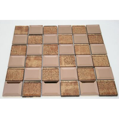 Galaxy 2 x 2 Metal Mosaic Tile in Gold/Copper