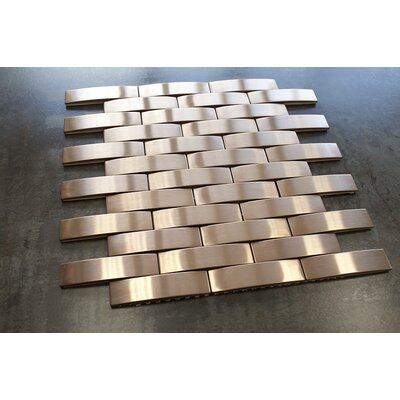 Bridge 1 x 4 Metal Mosaic Tile in Bronze