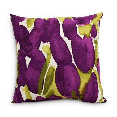 Quast Tulip Throw Pillow Color: Purple, Size: Small, Location: Outdoor
