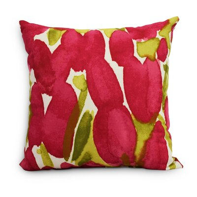 Quast Tulip Throw Pillow Color: Red, Size: Medium, Location: Outdoor