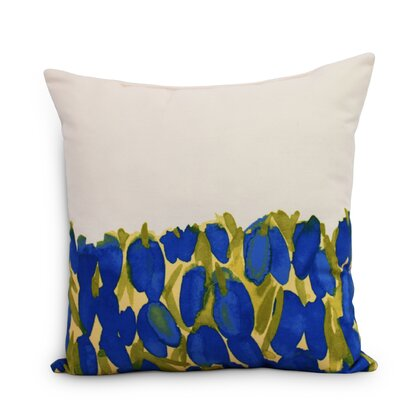 Quast Tulip Throw Pillow Color: Blue, Size: Large, Location: Outdoor