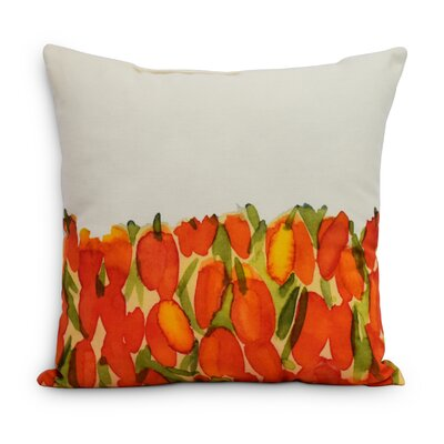 Quast Tulip Throw Pillow Color: Orange, Size: Medium, Location: Indoor