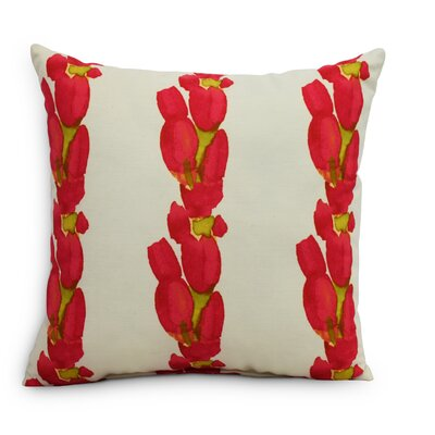 Quast Tulip Stripe Throw Pillow Color: Red, Size: Large, Location: Indoor
