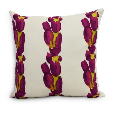 Quast Tulip Stripe Throw Pillow Color: Purple, Size: Large, Location: Indoor