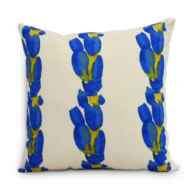 Quast Tulip Stripe Throw Pillow Color: Blue, Size: Large, Location: Indoor