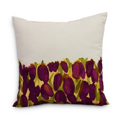Quast Tulip Throw Pillow Color: Purple, Size: Medium, Location: Outdoor