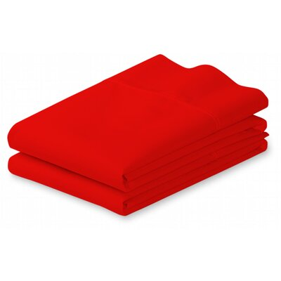 Putney Pillow Case Size: King, Color: Red