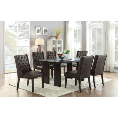 Melgar 7 Piece Dining Set Chair Color: Black