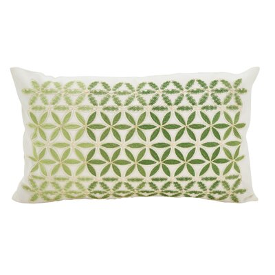 Agata Mosaic Stitched Down Filled Lumbar Pillow Color: Grass