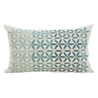 Agata Mosaic Stitched Down Filled Lumbar Pillow Color: Aqua