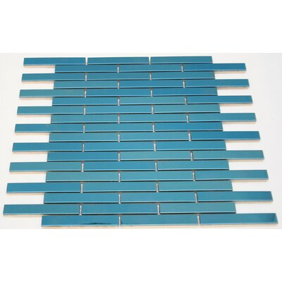 0.75 x 4 Metal Mosaic Tile in Blue