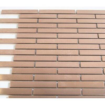 0.75 x 4 Metal Mosaic Tile in Copper