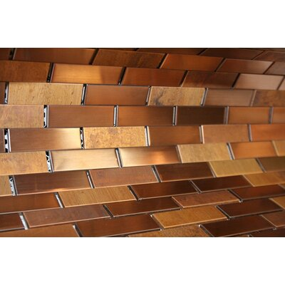 Cooper Antique 0.75 x 3 Metal Mosaic Tile in Brown