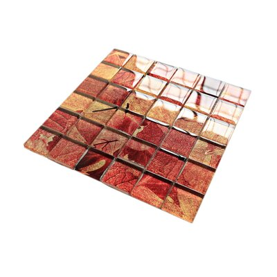 Season Series Summer 2 x 2 Glass Mosaic Tile in Red