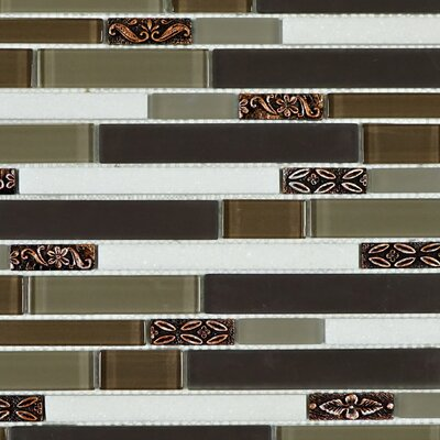 Deco Random Sized Mixed Material Tile in Brown