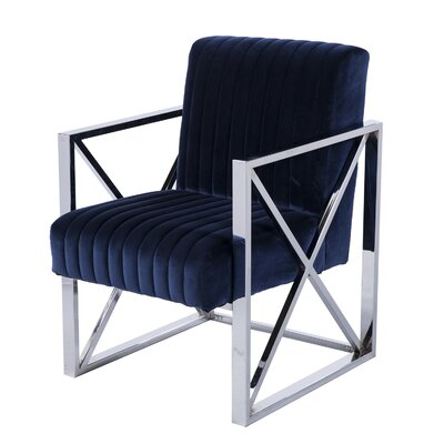 Wixom Velveteen Accent Armchair