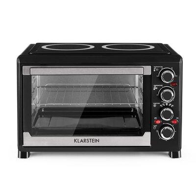 38 L Mini-Backofen Masterchef | Küche und Esszimmer > Küchenelektrogeräte > Küche Grill | Black | Edelstahl | Klarstein