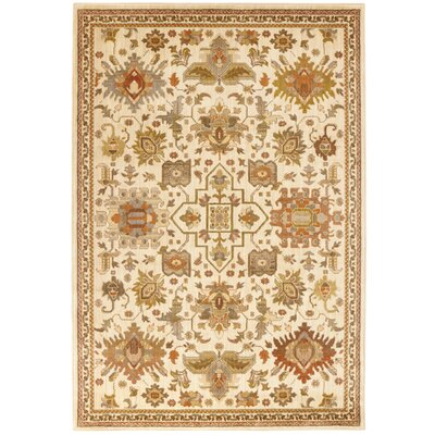 Halladay Ivory Area Rug Rug Size: Rectangle 710 x 10
