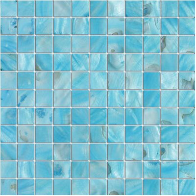 1 x 1 Seashell Tile in Blue