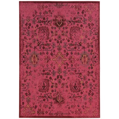 Wiggins Over-dyed Pink Area Rug Rug Size: Rectangle 53 x 7
