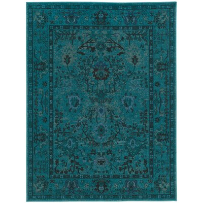 Halford Over-dyed Teal�Area Rug