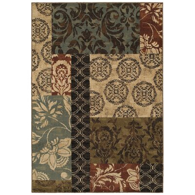 Galliher Beige/Gray�Area Rug Rug Size: Rectangle 53 x 76