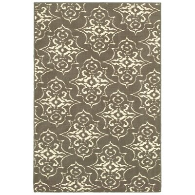 Gallegos Gray/Ivory Area Rug Rug Size: Rectangle 44 x 66