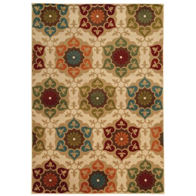 Gallion Medallion Ivory Area Rug Rug Size: Rectangle 710 x 10