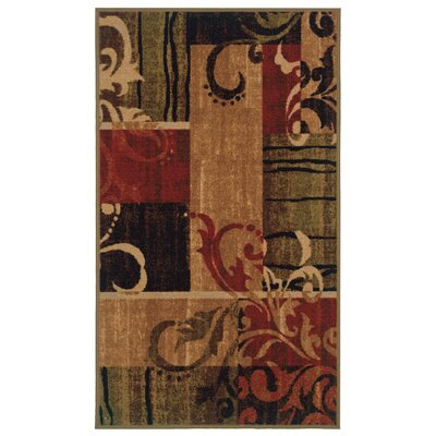 Gallegos Brown/Dark Red�Area Rug