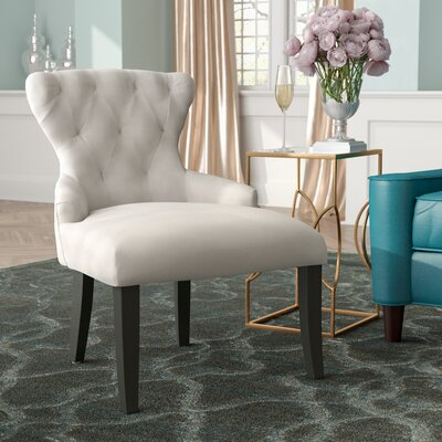 Elvie Upholstered Side Chair Upholstery: Oyster Velvet