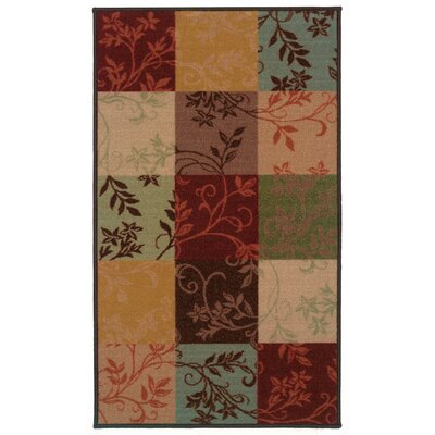 Gallegos Block Brown/Blue�Area Rug