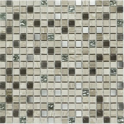 Tiny 0.6 x 0.6 Mixed Material Tile in Beige