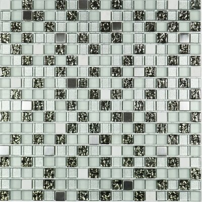 Tiny 0.6 x 0.6 Mixed Material Tile in Black/Gray