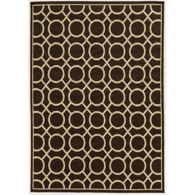 Melin Geometric Brown/Ivory Indoor/Outdoor�Area Rug