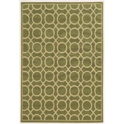 Melin Geometric Green/Ivory Indoor/Outdoor�Area Rug