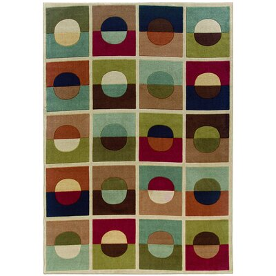 Melgoza Green/Orange�Area Rug