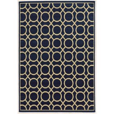Melin Geometric Navy/Ivory Indoor/Outdoor�Area Rug