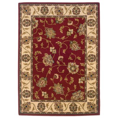 Sandoval Red/Ivory Area Rug Rug Size: Rectangle 53 x 76