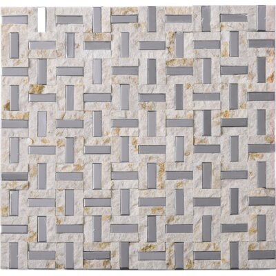 Series 0.4 x 1.2 Mixed Material Tile in Beige/Gray