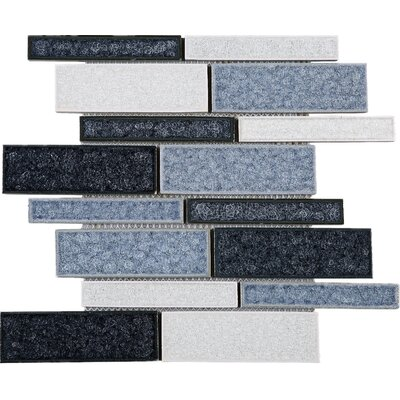 Roman Art Series Mario Random Sized Mixed Material Tile in Blue