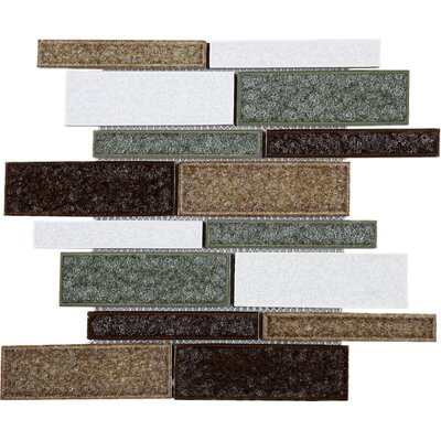 Roman Art Series Mario Random Sized Mixed Material Tile in Brown/Green