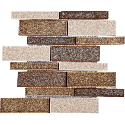 Roman Art Series Mario Random Sized Mixed Material Tile in Brown