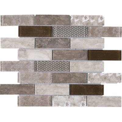 Recycle 1 x 3 Mixed Material Tile in Brown