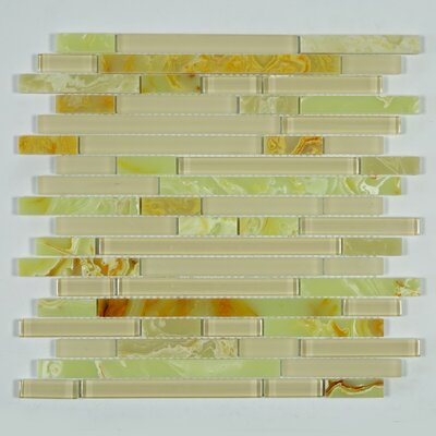 Jade Random Sized Glass Mosaic Tile in Yellow
