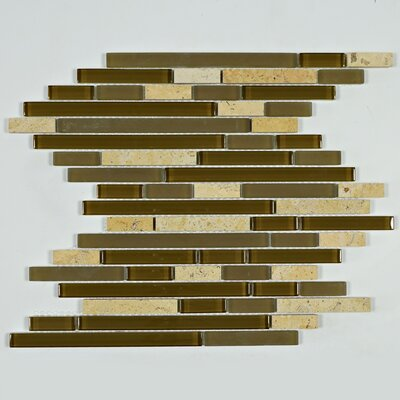 Rom Brick Random Sized Marble Mosaic Tile in Brown/Beige